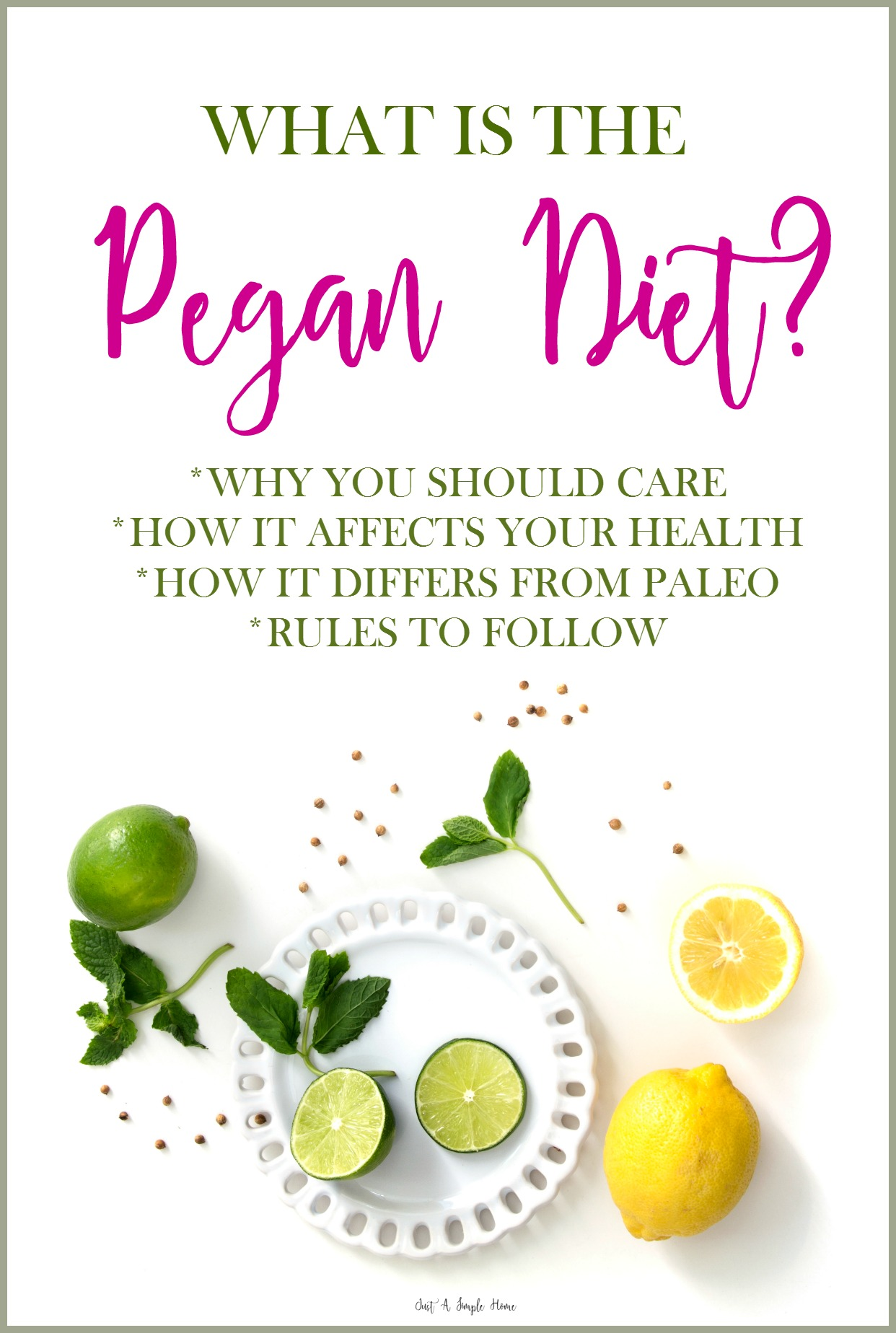 what is the pegan diet